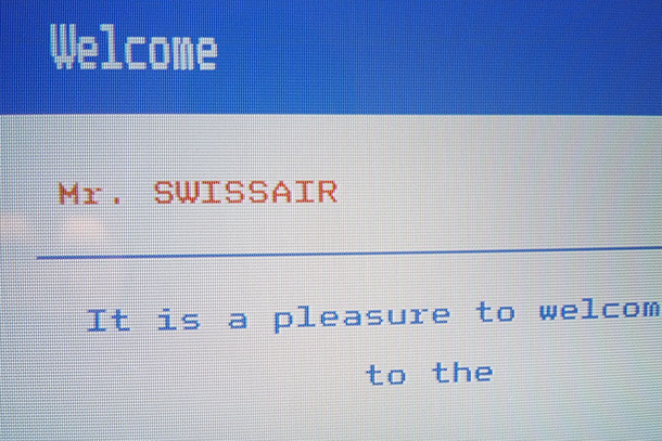 Out of Town, Welcome Mr. SWISSAIR, It is a pleasure to welcome you to the